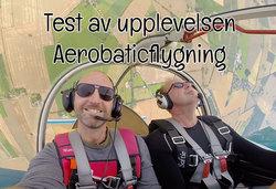 Test och recension av upplevelsepresenten Aerobaticflygning (akrobatflyg)
