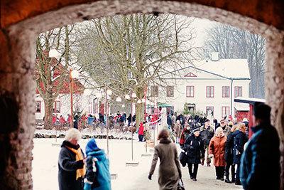 Foto från Jul på Fredriksdal