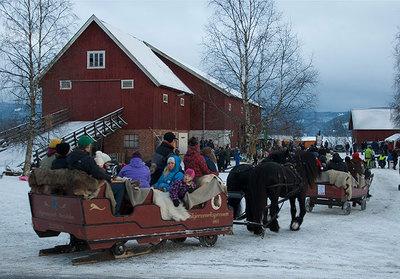 Foto från Julmarknad på Skjerven gård