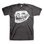 T-shirt med trollface-tryck