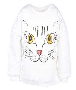 Långärmad tröja med kattmotiv