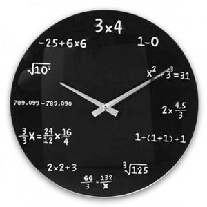Ekvationsklocka på väggen