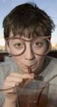 Glasögon-sugrör