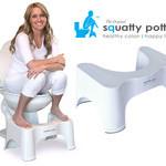 sitta på huk på toa squatty potty