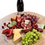 ostbricka på återvunnen ek vinfat