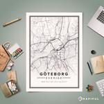 Stilren karta över staden man bor i