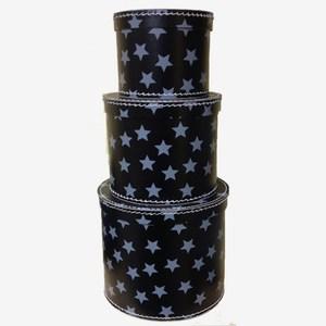 svarta gråa runda förvaringsboxar